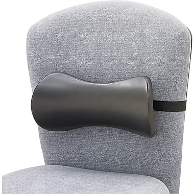 Safco® Memory Foam Backrest Smooth Surface, Black