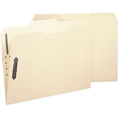 Smead® Poly Fastener Folder, 2 Fasteners, 1/3-Cut Tab, Letter Size, Manila, 24 per Box (10545)