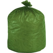 """Stout EcoDegradable Extra Heavy Trash Bags, 33 Gallons, 1.1 Mil, Green, 33"""" x 40"""", 40/Bx"""
