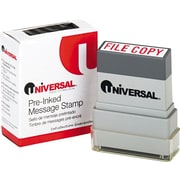 """Universal Pre-Inked """"FILE COPY"""" Message Stamp, 9/16 x 1 11/16, Blue"""