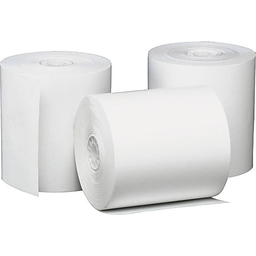 "Universal Thermal Paper for Receipt Printers, 3 1/8"" x 230' Roll, 50/Ct"