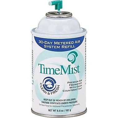 TimeMist® Metered Fragrance Refill, Clean N Fresh, 6.6 oz., 12/Case