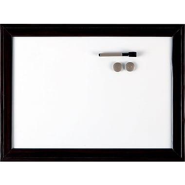 Quartet® - Tableau Espresso magnétique à effacement à sec, 24 po x 36 po