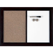 Quartet® Bulletin and Dry-Erase Magnetic Combination Boards, Espresso