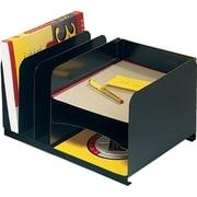 "SteelMaster Steel Horizontal/Vertical Organizer, 8 1/8"" H x 15"" W x 11"" D, 3 Horizontal/3 Vertical Compartments (26420HV004)"