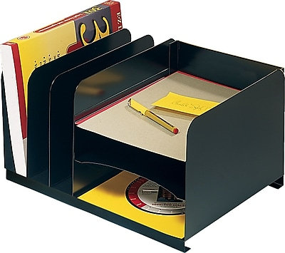 STEELMASTER® Horizontal/Vertical Combination Organizer, 3 Horizontal/3 Vertical Compartments, Black (26420HV004)
