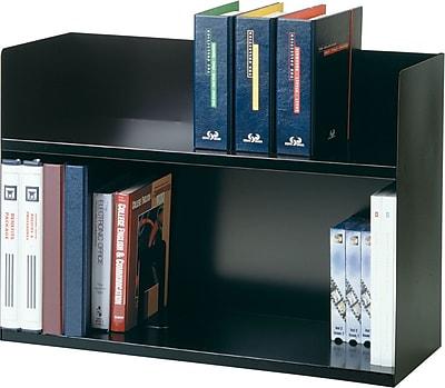 SteelMaster® 2-Tier Black Book Rack
