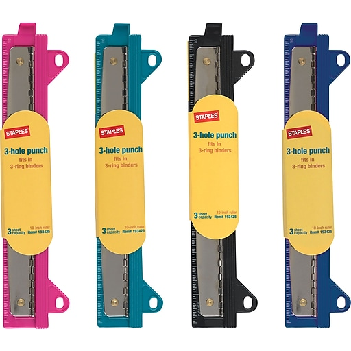 Staples binder 20545 3 hole punch assorted colors staples httpsstaples 3ps7is reheart Images