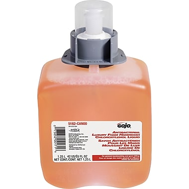GOJO® - Recharge de savon moussant antibactérien pour les mains, 1,25 l