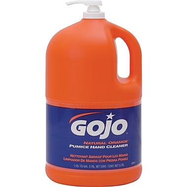 GOJOMD – Nettoyant abrasif pour les mains Natural Orange, distributeur à pompe de 3,78 L