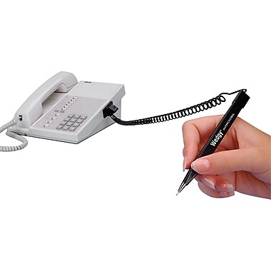 MMF Industries™ Wedgy® Scabbard-Style Pen, Black Barrel, Black Ink