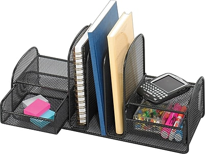 Merveilleux Safco Onyx Mesh Desk Organizer With Three Vertical SectionsTwo