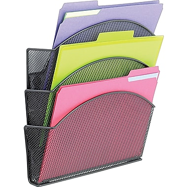 Safco Onyx Magic Magnetic Cubicle File Pockets, Black, Set (4175BL)