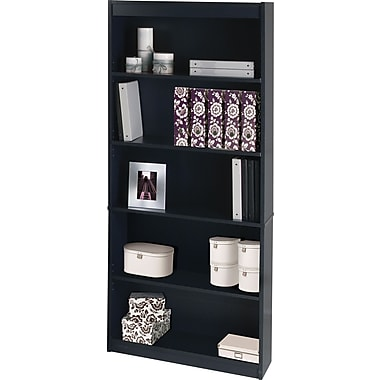 Bestar Commercial Bookcase, 5-shelf, Charcoal