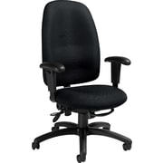 Staples® Ergonomic High-Back Multi-Tilt Chair, Java/Black