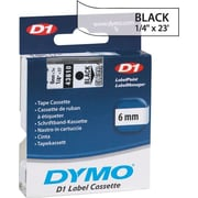 "DYMO 1/4"" D1 Label Maker Tape, Black on Clear"