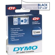 "DYMO 1/2"" D1 Label Maker Tape, Blue on Clear"