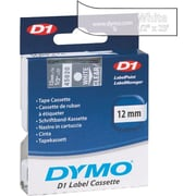 "DYMO 1/2"" D1 Label Maker Tape, White on Clear"