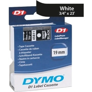 "DYMO 3/4"" D1 Label Maker Tape, White on Black"