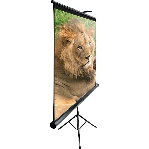 "Elite Screens Tripod Projector Screen, White Casing, View 96"" x 96"", 136"" Diagonal"
