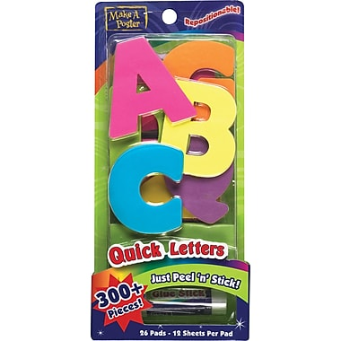 ArtSkills® 1225 Neon Poster Letters with Gluestick (PA-1225)