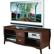 "OSP Designs 60"" Flat Screen TV Stand, Walnut"