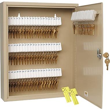 MMF Industries™ STEELMASTER® Uni-Tag® Key Cabinet, 160 Key Capacity, Sand, 20 1/8
