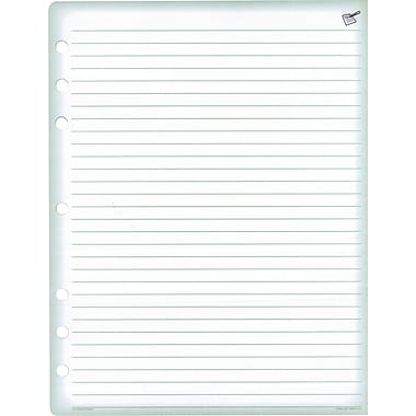 Day-Timer® – Pages de recharge pour registre, format folio, 8,5 po x 11 po, 24 feuilles par tablette, paq./2