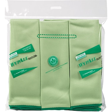 WYPALL Microfibre Cloths, Green, 6-Pack