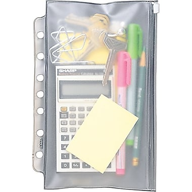 Day-Timer® Desk Size Clear Vinyl Zip Pouch, 5-1/2