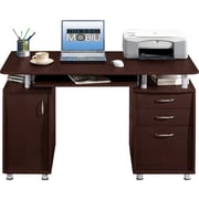 Techni Mobili Complete Workstation Computer Desk with Storage, Chocolate
