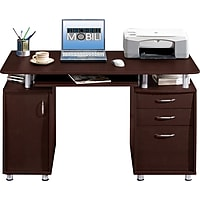 RTA Products LLC Techni Mobili Complete Workstation Computer Desk with Storage (Chocolate)