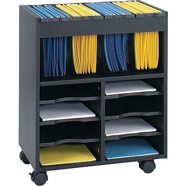 Safco® – Classeur mobile Go Cart, noir