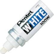 Pentel® - Marqueur permanent blanc, pointe ronde