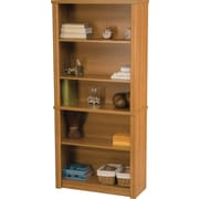 Bestar Embassy Collection Modular Bookcase, 5-Shelf, Cappuccino Cherry