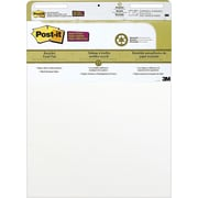 "Post-it® Recycled Self-Stick Easel Pad, 25"" x 30"", White"