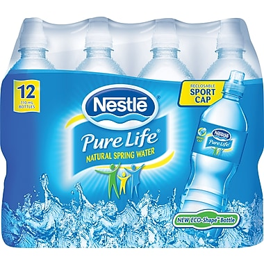Nestlé® Pure Life Water, 710ml Bottles with Sport Cap, 12-Pack