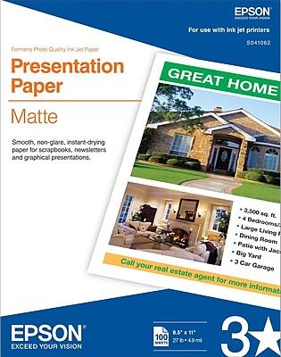 Epson® Inkjet Presentation Paper Matte 8 1/2