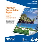 "Epson® Double Sided Premium Presentation Paper, Matte Finish, 8.5"" x 11"", 50/Pk"