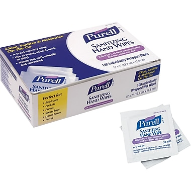 Purell® Hand Sanitizing Wipes 100 Wipes/Box