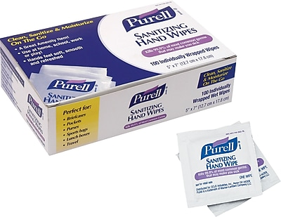 Purell® Hand Sanitizing Wipes, 100 Wipes/Box
