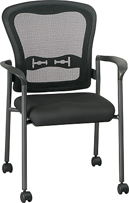 Office Star Pro-Grid Mesh Guest Chair with Casters