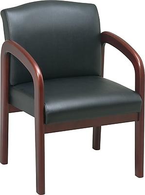 Office Star Guest Chair, Black/Cherry (WD387-U6)