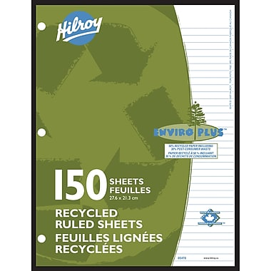 Hilroy Recycled Refill paper, 10-7/8