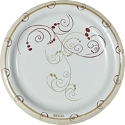 "SOLO® Symphony Medium Weight Paper Plates, 8 1/2"", 125/Pack"