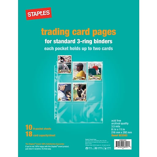 Staples® Trading Card Pages