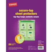 Staples Secure-Top Sheet Protectors, 25/Pack (15953)