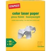 "Staples Color Laser Paper, 8 1/2"" x 11"", Glossy, 300/Pack"