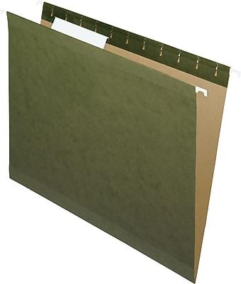 Pendaflex® Standard Green Hanging File Folders, Letter Size, 1/3-Cut