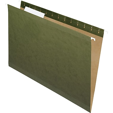 Pendaflex® Reinforced Hanging File Folders, 3 Tab Positions, Legal Size, Standard Green, 25/Box (4153 1/3)